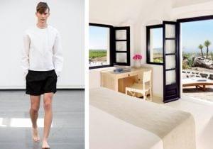 L'estate di Santorini: bianco, tra moda e design
