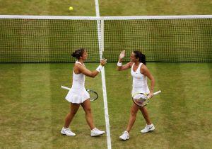 La coppia Errani Vinci, vincitrice a Wimbledon 2014