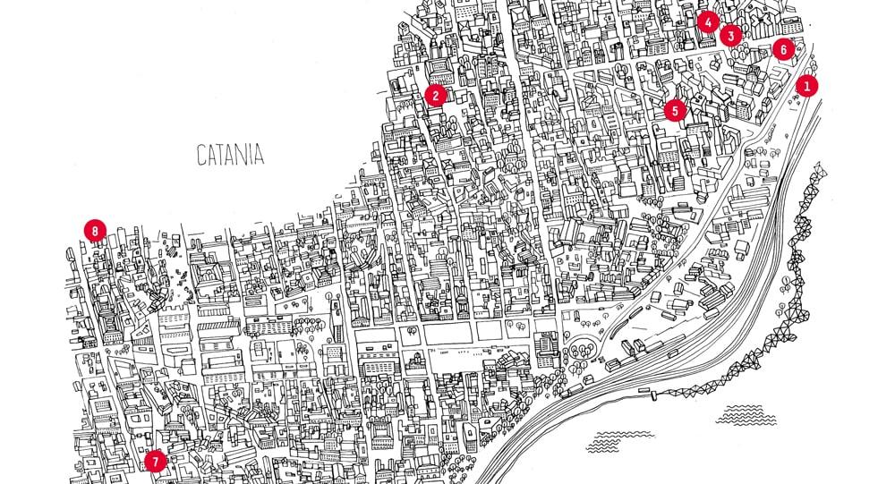 I negozi di catania la mappa icon for Negozi di arredamento catania
