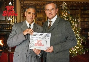 George Clooney a Downton Abbey: è christmas style