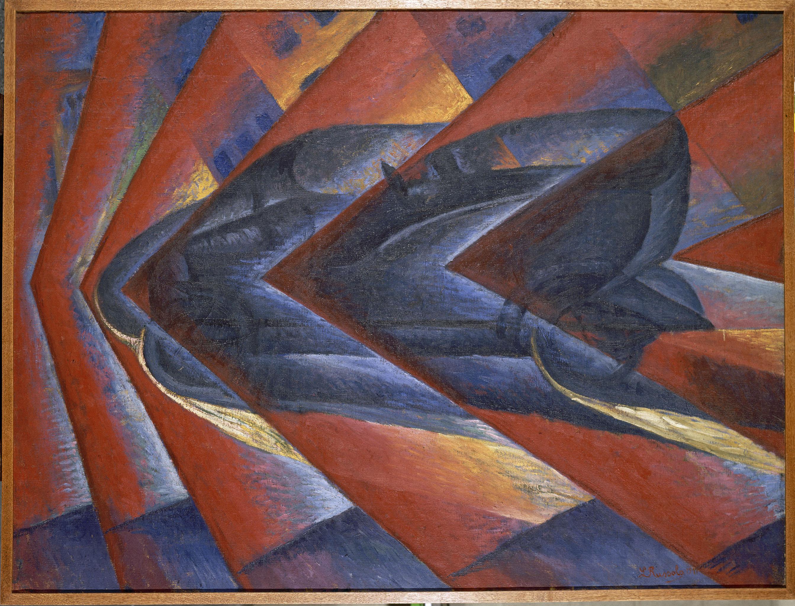 Automobile in corsa, Russolo Luigi (1885-1947). Paris, Centre Pompidou, Musée national d'art moderne, Centre de création industrielle.