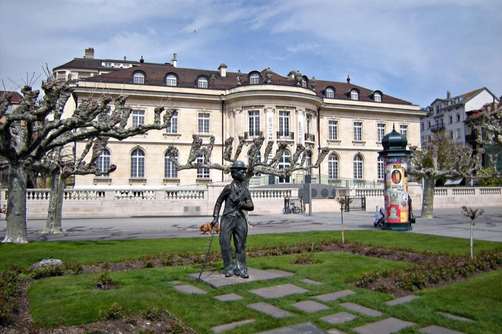 Vevey, statua di Charlie Chaplin