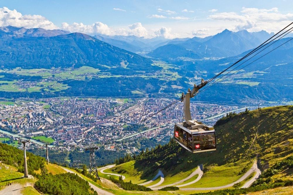 Innsbruck_funicolare da centro storico in quota