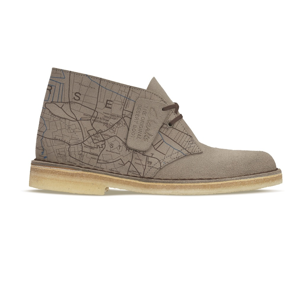 Desert Boot Sand Somerset Map Print
