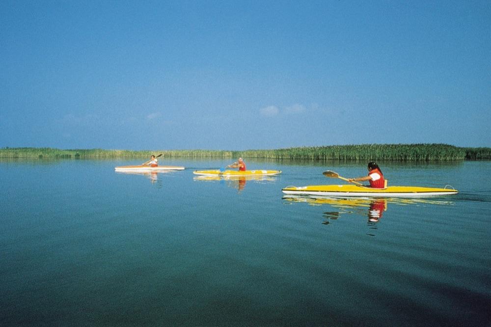 canoa sul delta del Po