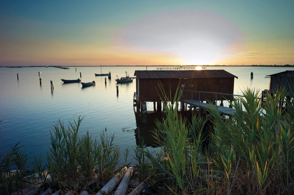 tramonto delta del po