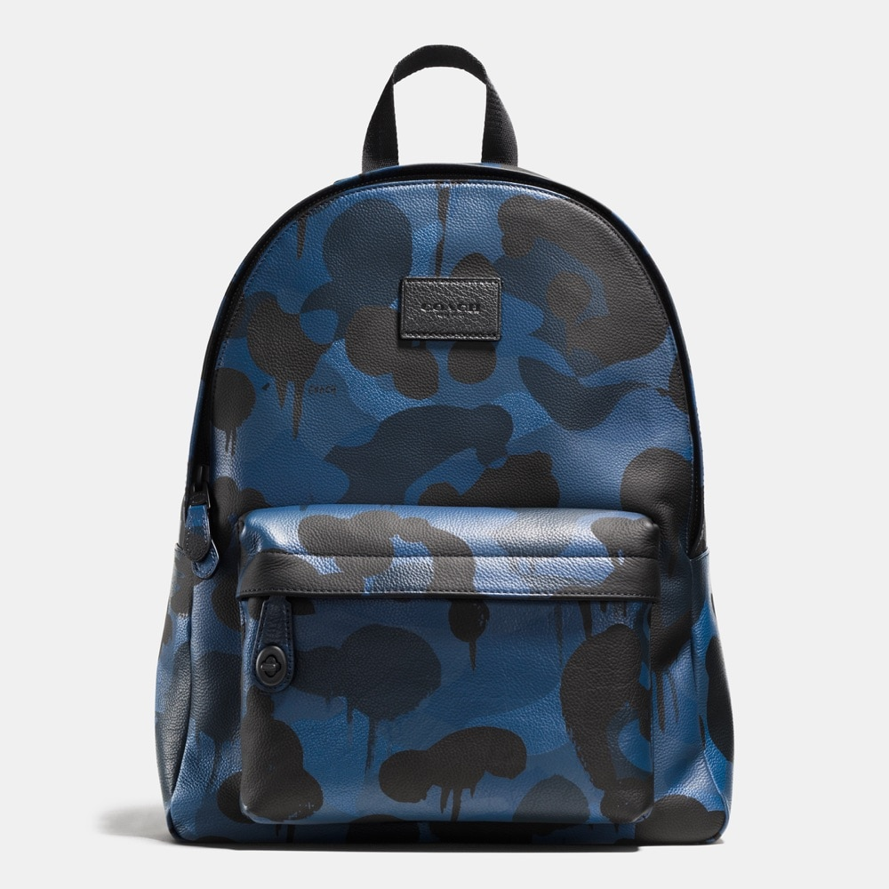 Campus Backpack in Refined Pebble Leather_72063_Denim Wild Beast