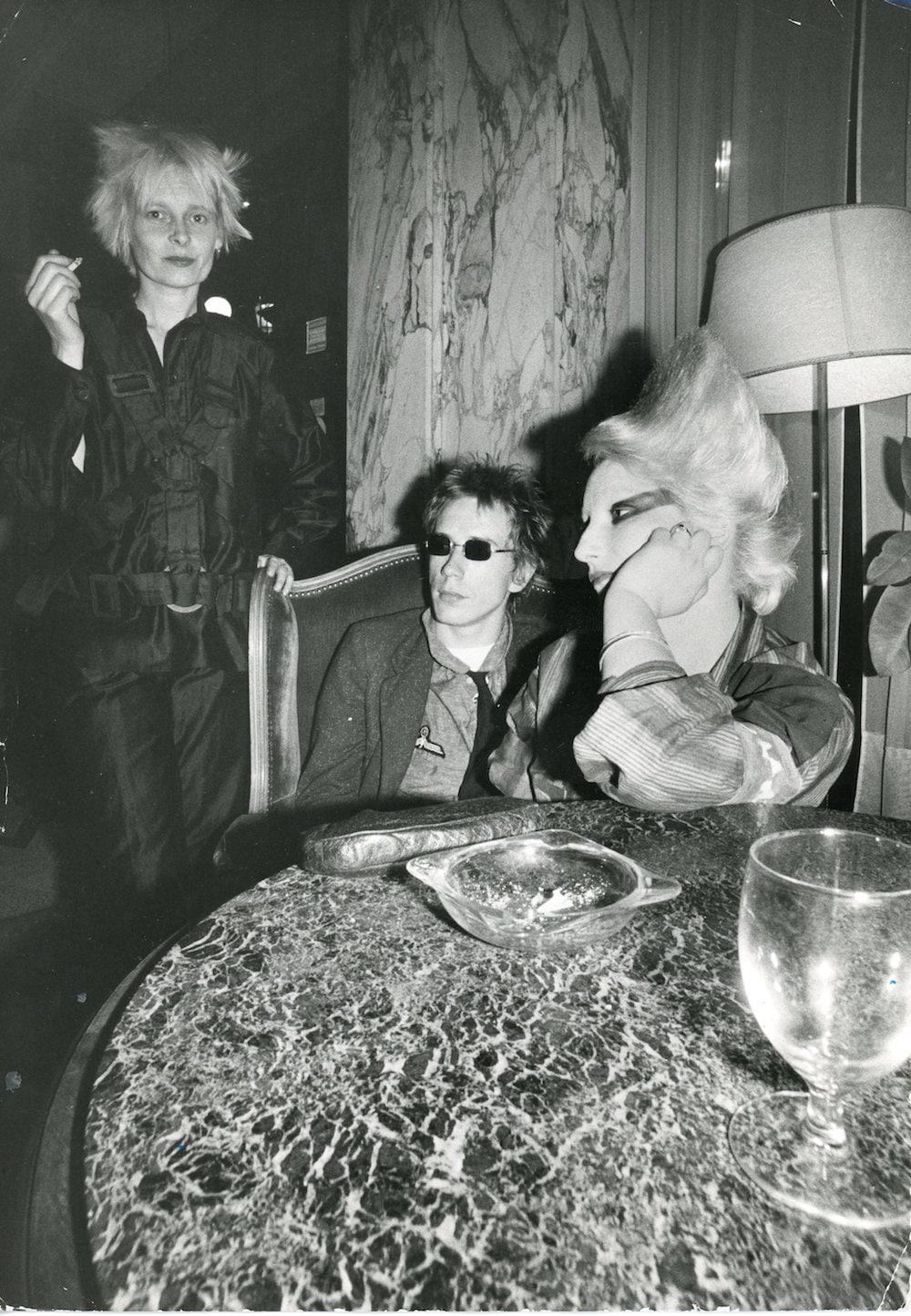 Johnny Rotten, Jordan and Vivienne Westwood