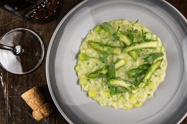 risotto agli asparagi e prosecco
