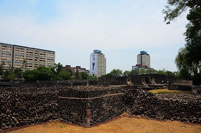 Le rovine di Tlatelolco