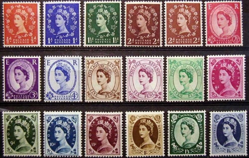 5 collage francobolli