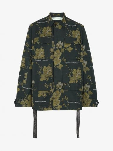Browns Fashion - Off-White Green Floral Shirt Jacket - £1270