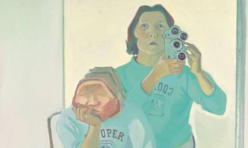 Maria-Lassnig-Double-Self-portrait-with-Camera