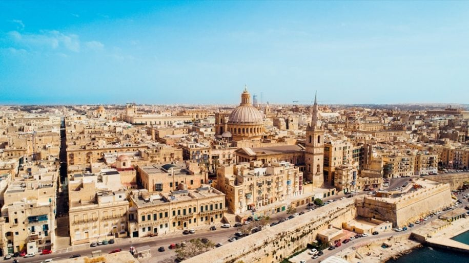 2 Aerial view of Valletta