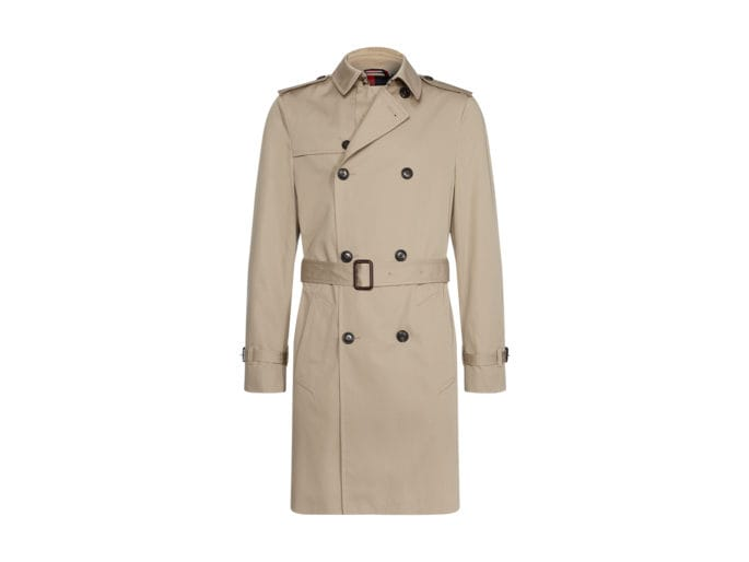 Chenelle Bianco Donna in Pelle Trench