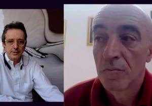 Luca Stoppini in conversazione con Nicola della cooperativa sociale Opera in Fiore